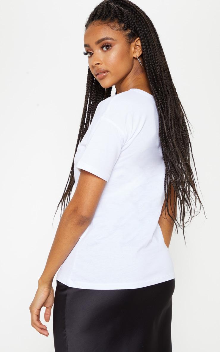 T-shirt blanc à imprimé fleurs 2