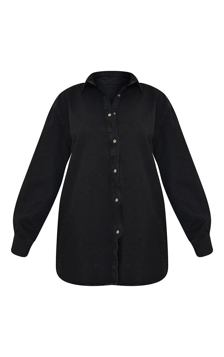 Black Oversize Dad Shirt 5
