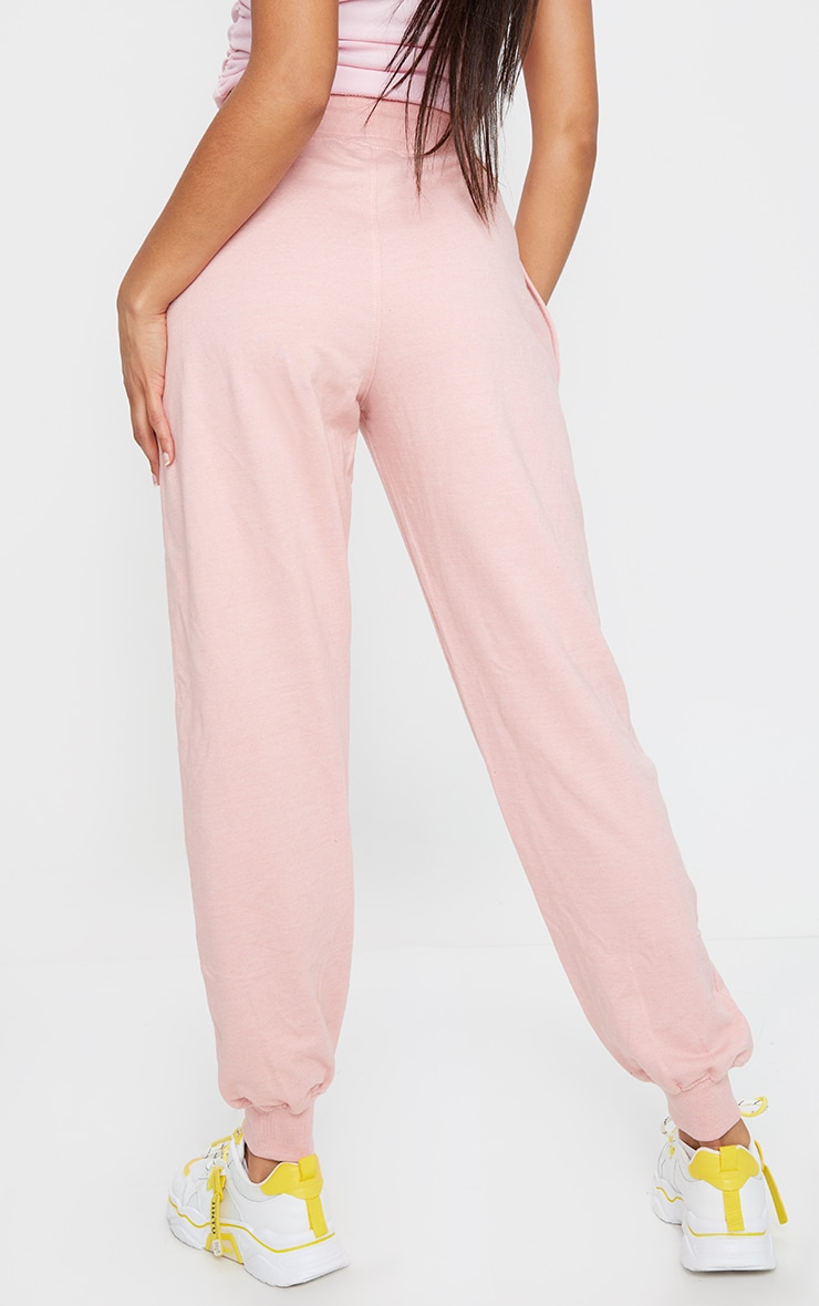 PRETTYLITTLETHING Pink Badge Casual Joggers 3