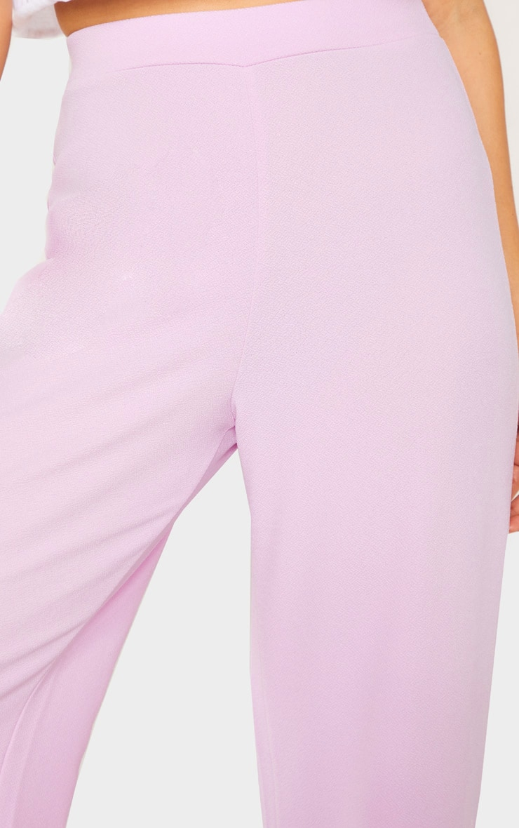 Pastel Lilac High Waisted Wide Leg Trouser 4