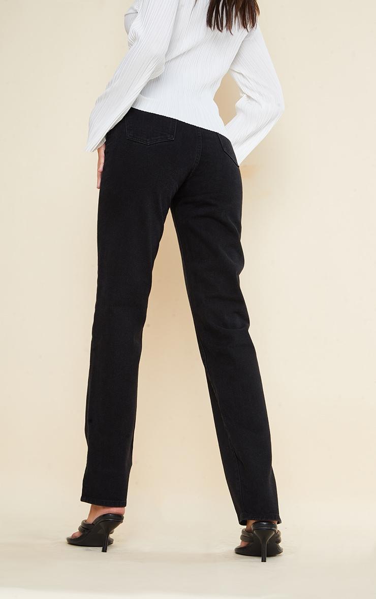 Tall Black Split Hem Jeans 3