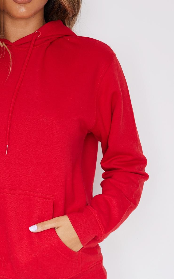 هودي فضفاض من مجموعة ألتيميت، لون أحمر. 4