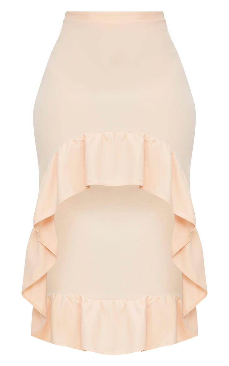 Plus Nude Frill Hem Midi Skirt 3