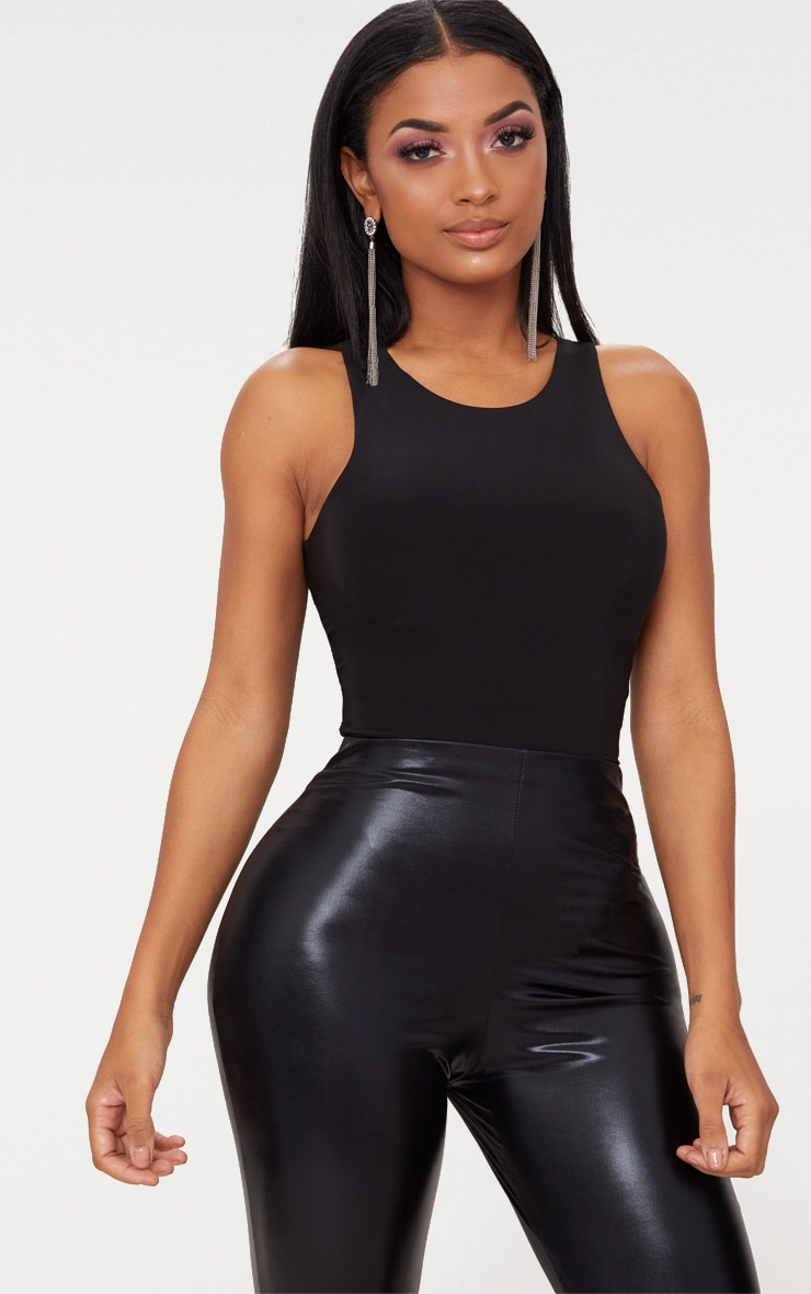 Shape Black Sleeveless Slinky Bodysuit 2