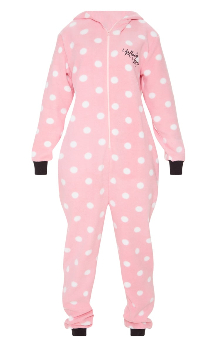Pink Disney Minnie Mouse Polka Dot Onesie 3