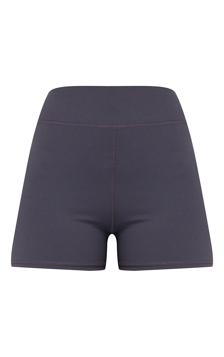 Dark Grey Sport Sculpt Luxe Booty Shorts 5