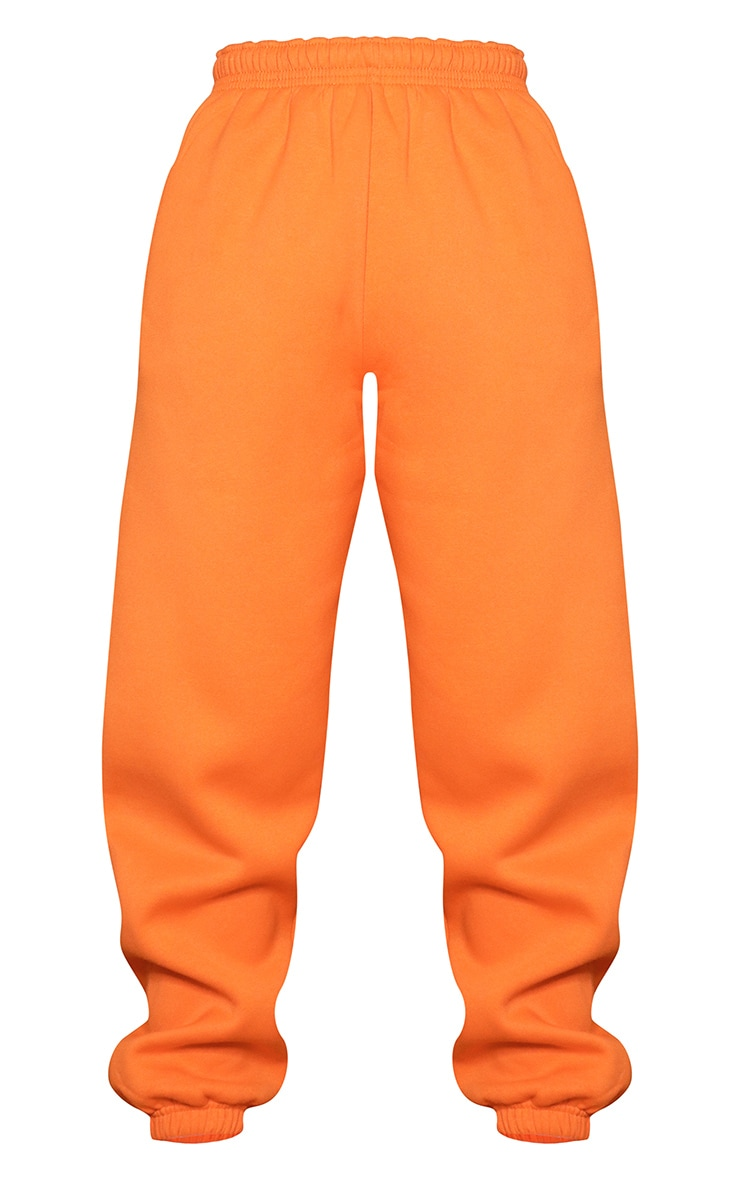 Bright Orange Casual Joggers 5