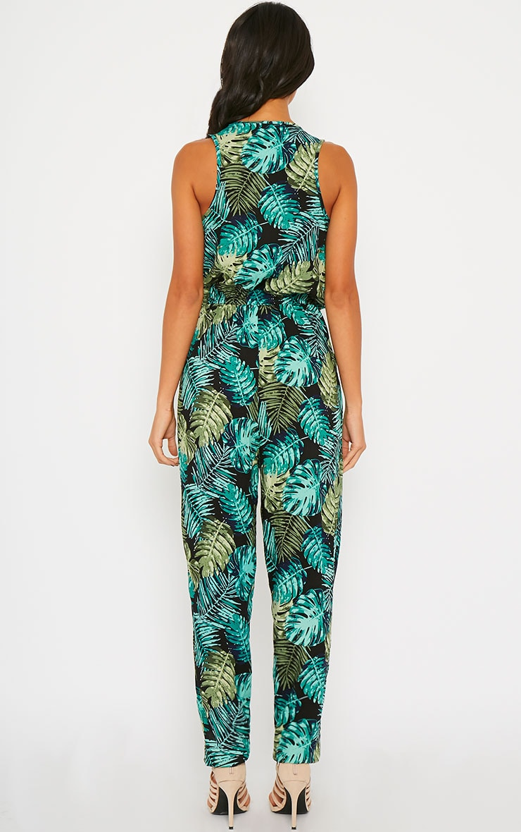 Bellina Hawaiian Print Jumpsuit 2