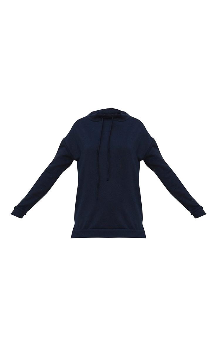 Black Funnel Neck Sweater 5