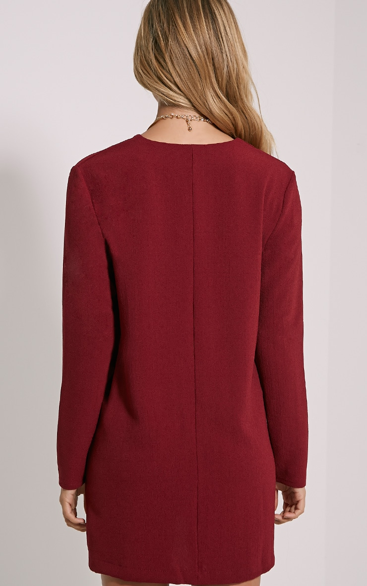 Jemima Burgundy Loose Fit Blazer Dress 2