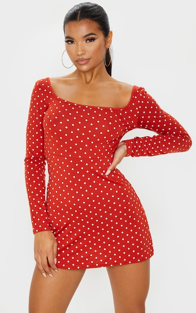 Polka Dot Dresses Spotty Dress Prettylittlething Aus