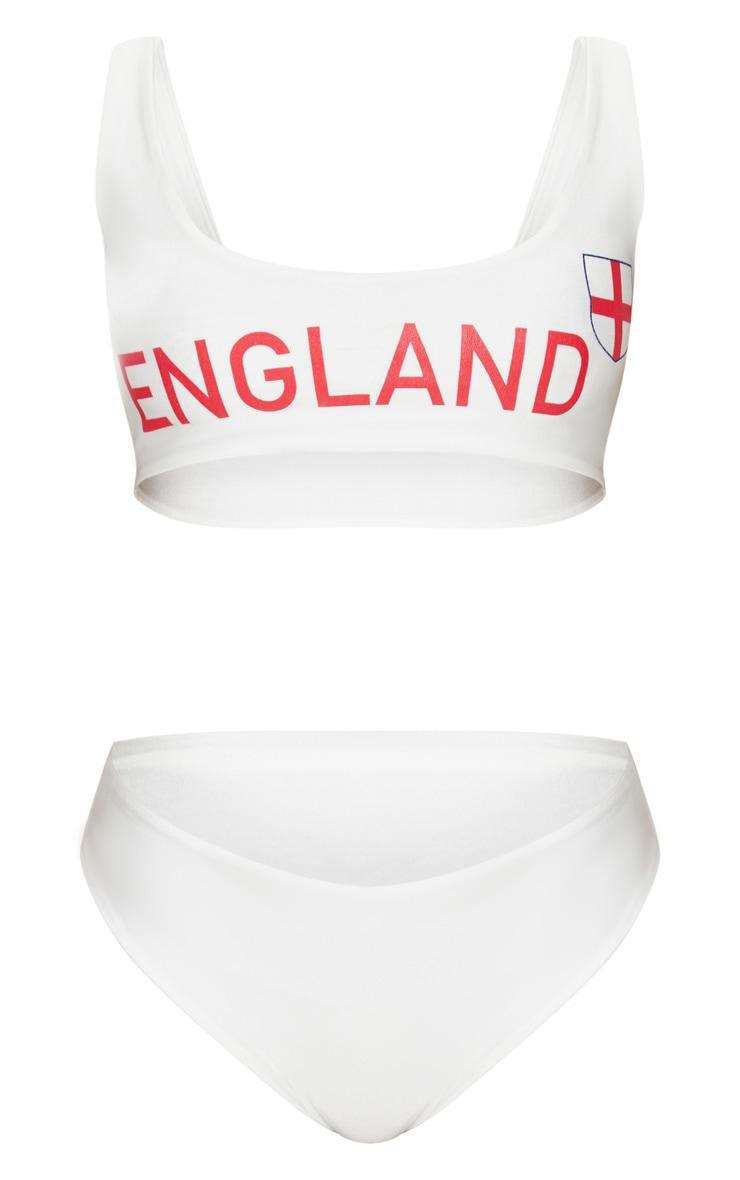 White England Football Bikini Set  3