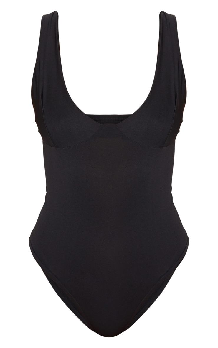 Body slinky noir à détails bonnets 5