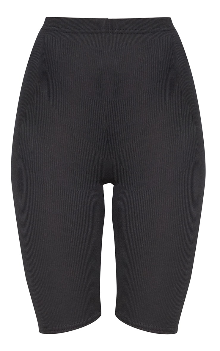 Black Rib Longline Cycle Short 3