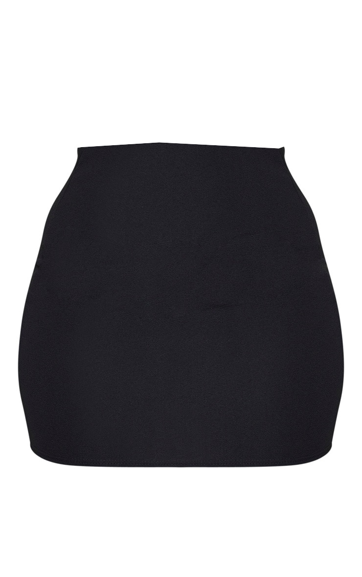 Plus Black Mini Skirt 6