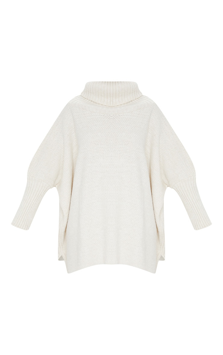 Oatmeal Oversized Slouchy Knitted Sweater 3