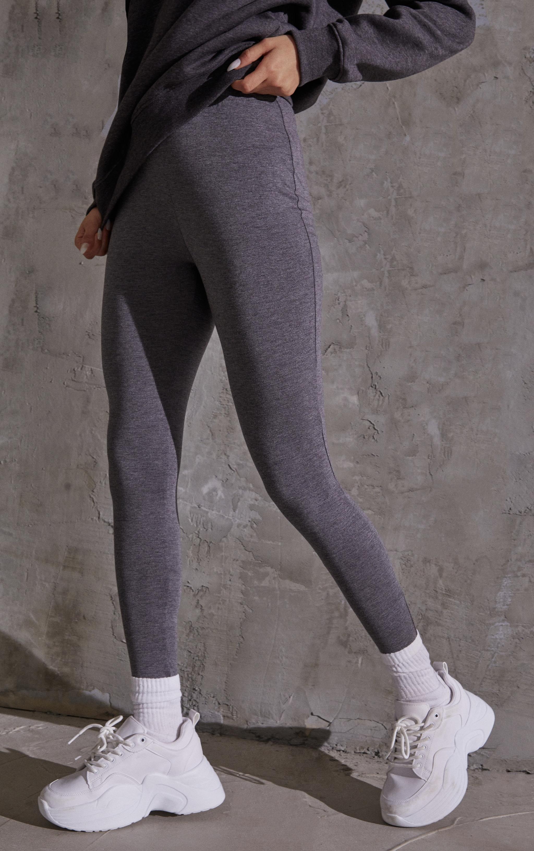 Charcoal Basic Leggings 2