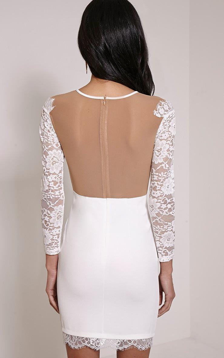 Zoe Cream Lace Detail Mini Dress 2