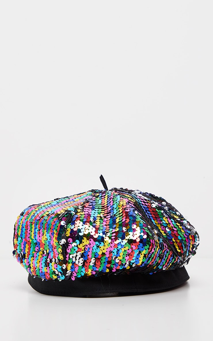 Multi Sequin Beret 2