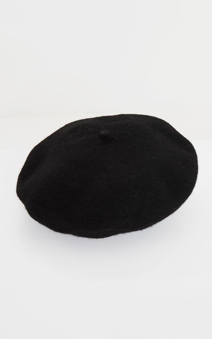 Black Felt Beret 2