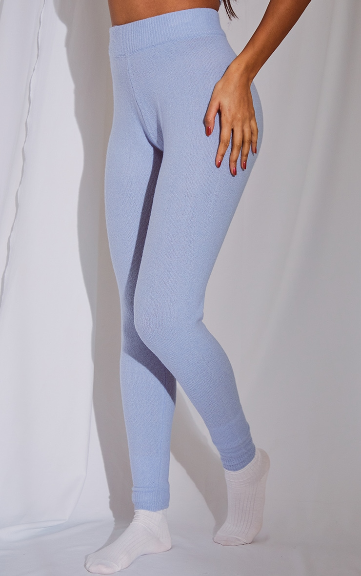 Baby Blue Soft Knit Joggers 2