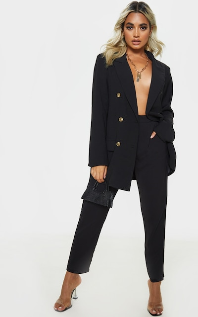 Petite Black Tailored Trouser