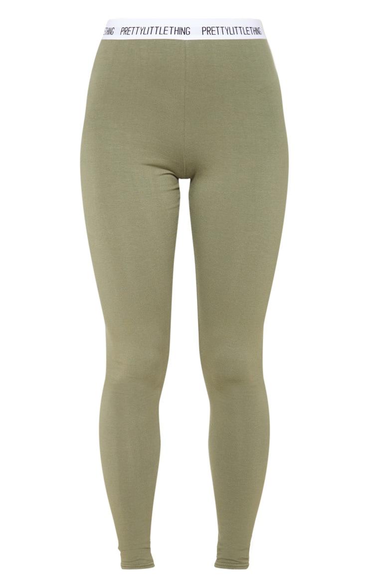 PRETTYLITTLETHING Pale Khaki Legging 3