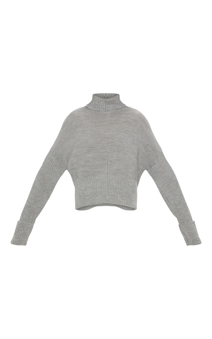 Grey Chunky Ribbed Knitted Jumper  3