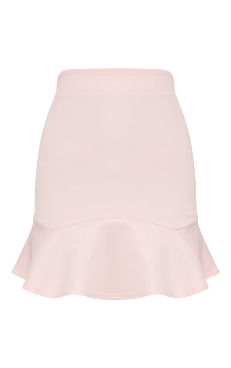 Pale Pink Flippy Hem Mini Skirt 3