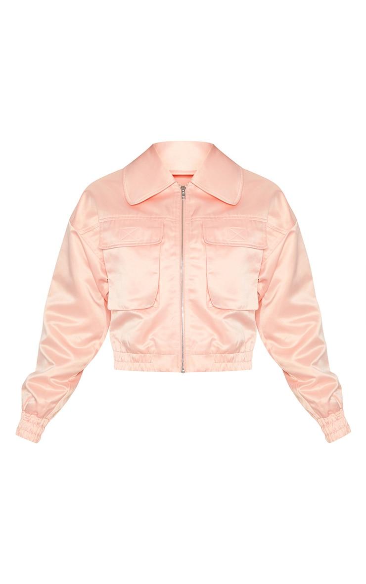 Pink Satin Trucker  3