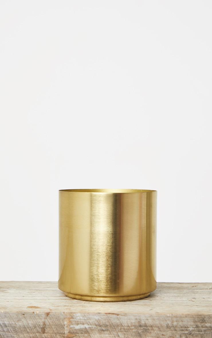 Gold Round Metal Vase 4