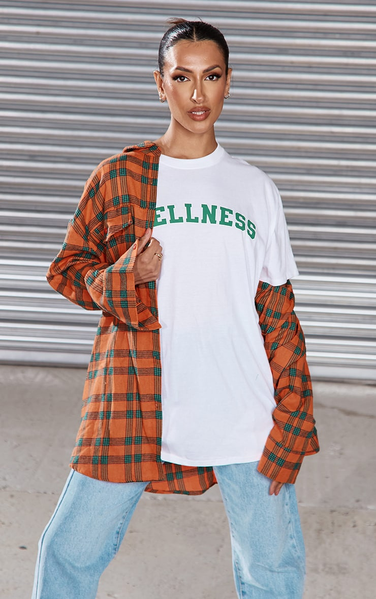 White Wellness Printed T Shirt 1