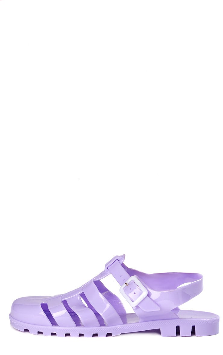 Raida Lilac Flat Jelly Sandals 8