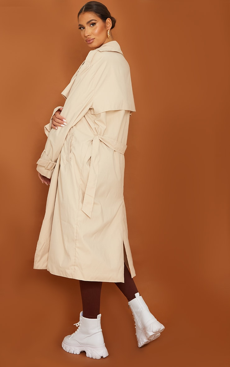 Tall Stone Oversized Belted Midi Trench 2
