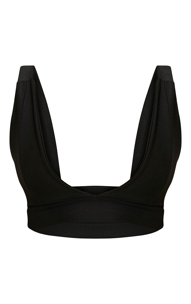 Haut de bikini noir à décolleté plongeant Mix & Match 3