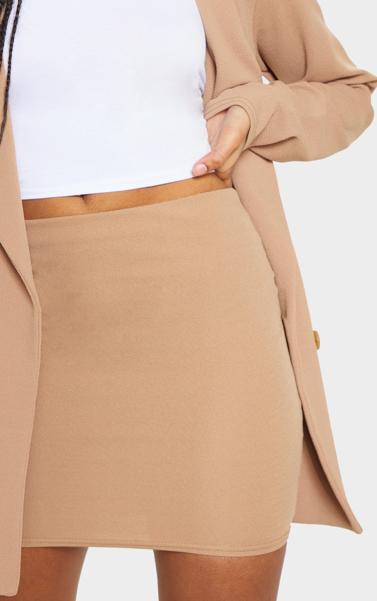 Camel Mini Suit Skirt 6