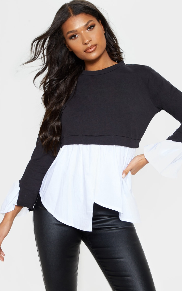 Black Peplum Sweater 1