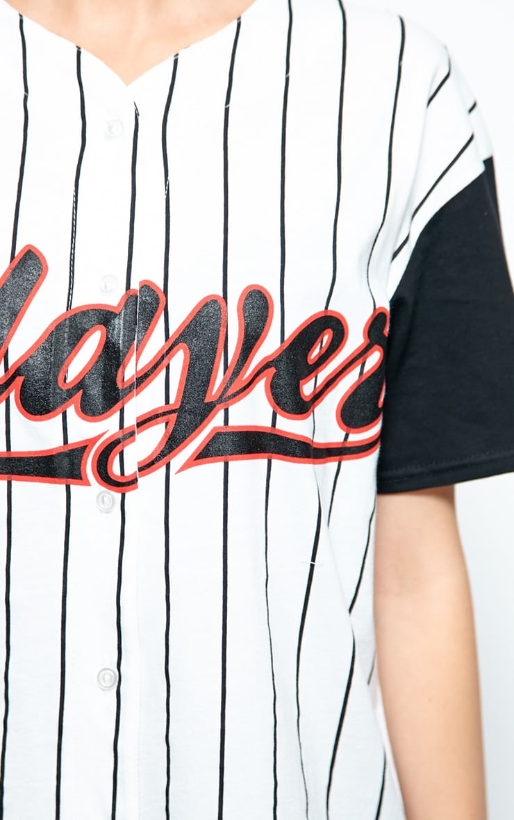 Winston Black & White 'Player' Baseball T-Shirt 4