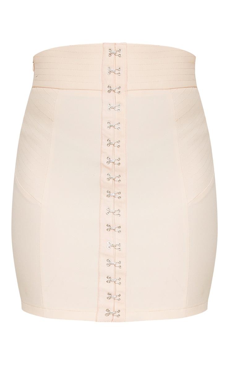 Nichola Beige High Waisted Corset Mini Skirt 3