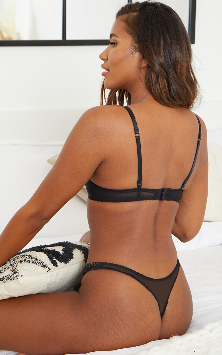 Black Ann Summers Lace Thong 2