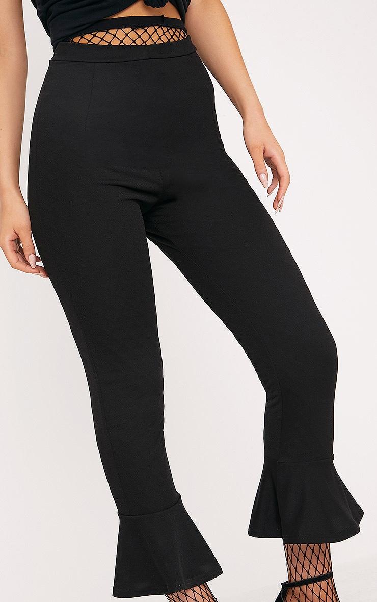 Black Flare Hem Trouser 5