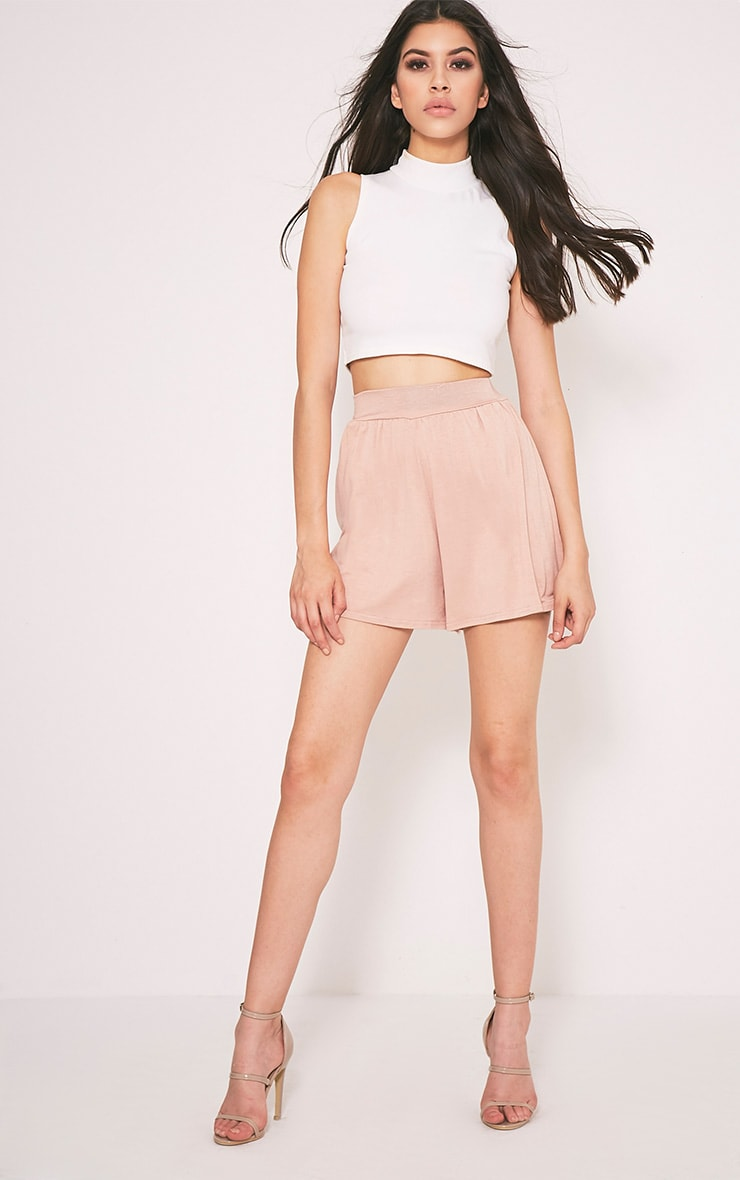 Lucilla Nude Jersey Floaty Shorts 5