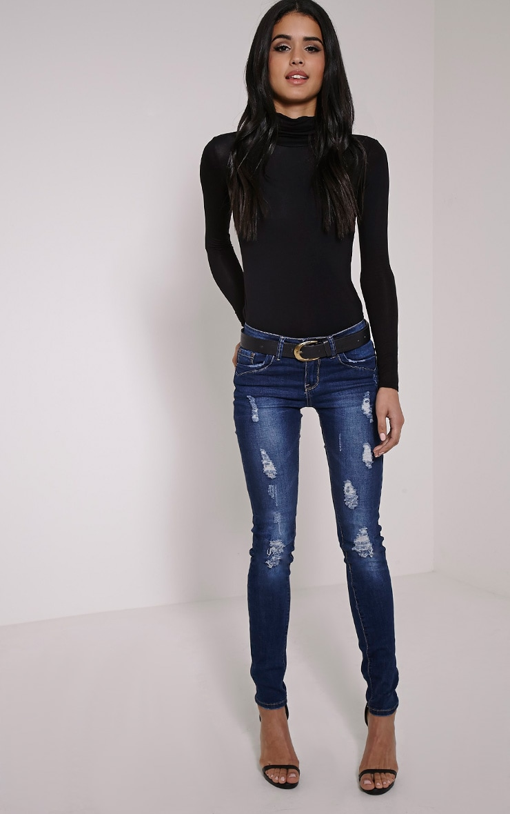 Tash Blue Distressed Skinny Jean 1