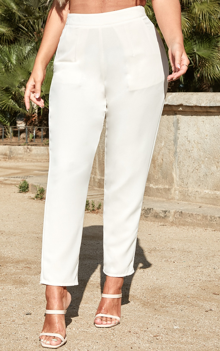 Petite Cream Tailored Trousers 2