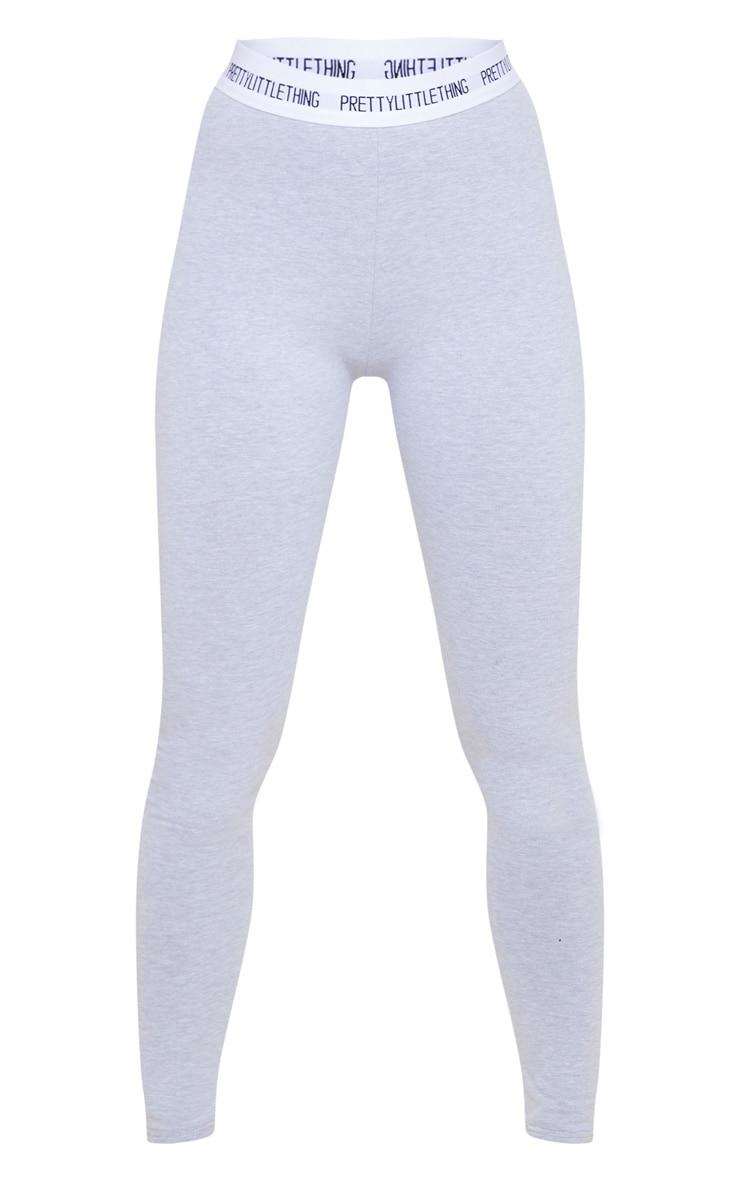 PRETTYLITTLETHING Grey Cotton High Waist Leggings 5
