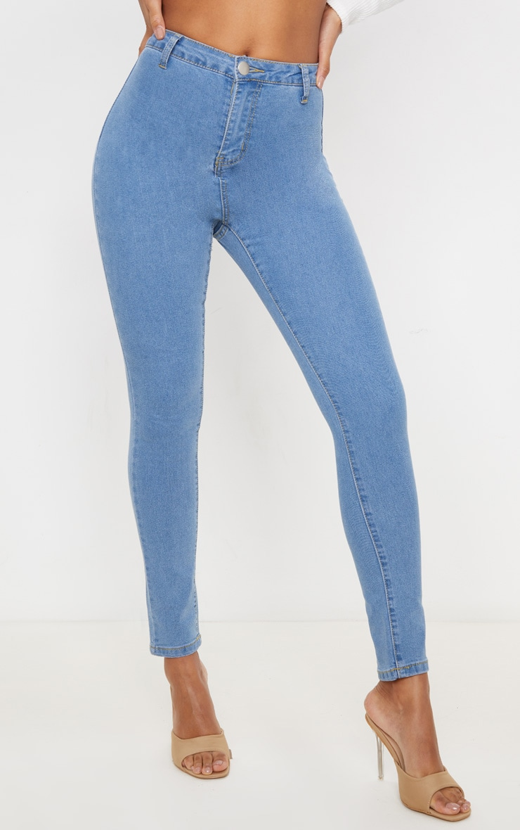 Light Wash Basic High Waisted Disco Skinny 2