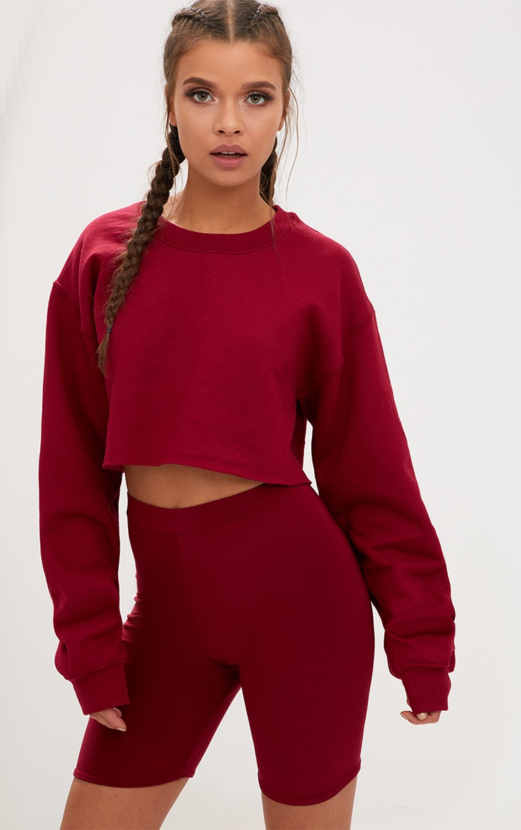 Maroon Ultimate Cropped Sweater 1