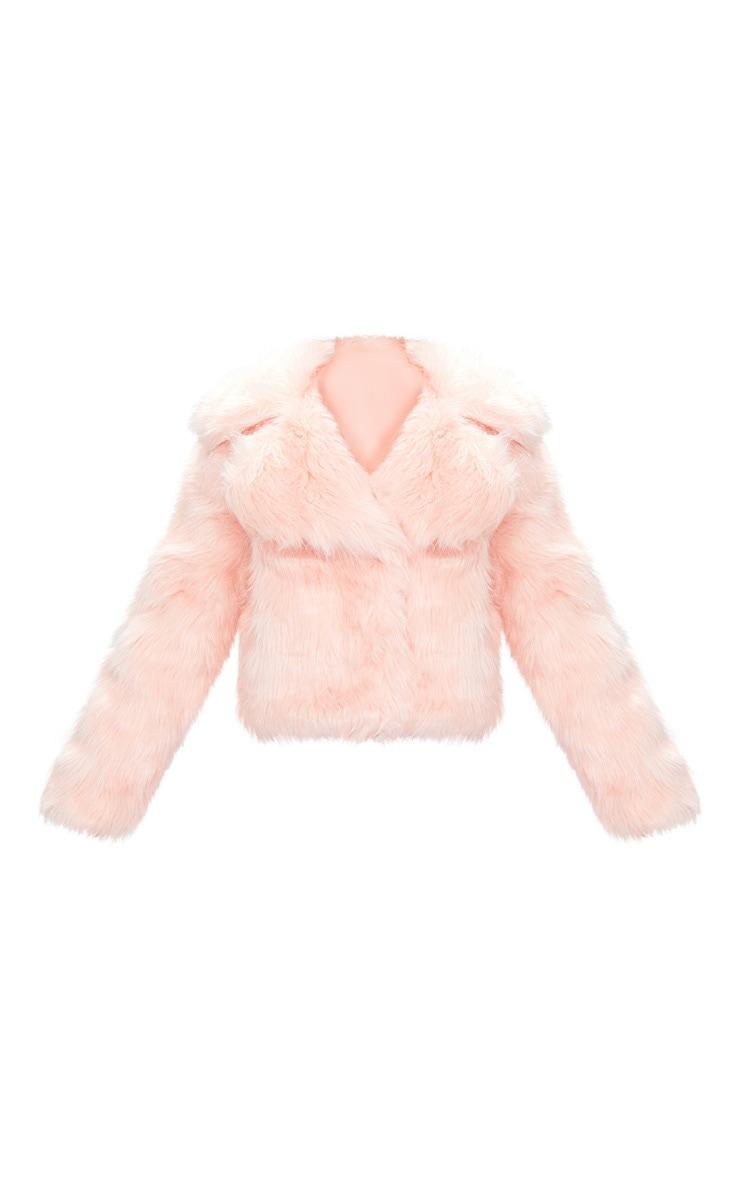 Baby Pink Faux Fur Jacket 4