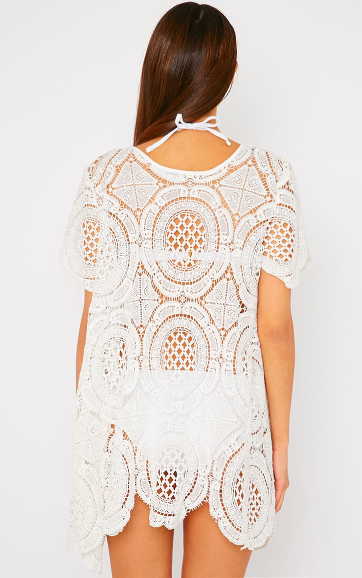 Tianna White Crochet Cardigan -L 2
