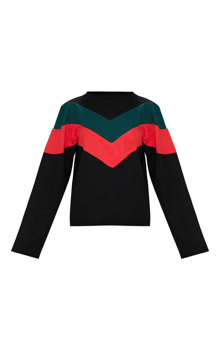 Forest Green Funnel Neck Motorcross Sweater 3